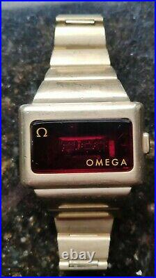 1974 Omega TC-1Time Computer Gold Plated Kojak Watch parts repair vintage
