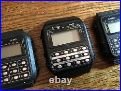 3x Casio LCD Calculator watch / C-80 C80 / Vintage / For parts or repair