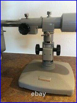Baush & Lomb Stereozoom microscope with phototube on American Optical Boom Stand