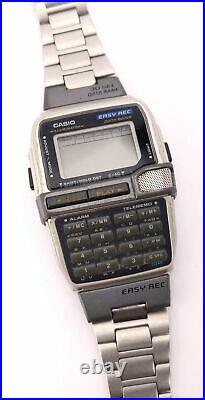 Casio Easy Record Data Bank VTG Watch 1591 Dbc-V500 For Parts Repair Untested