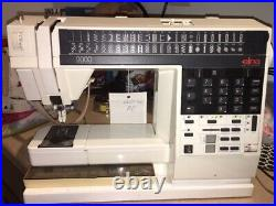 Elna 9000 Computer Electronic Sewing Machine with Case Selling for Parts