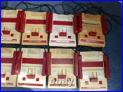 Nintendo game family computer Famicom Console 10 LOT set for Parts Untested USED