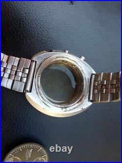 Proyect Seiko chronograf 6138 7000 pilot case dial as is parts
