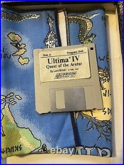 Ultima IV Quest of the Avatar ST Vintage Computer Game Disk BoxMAP MISSING PARTS