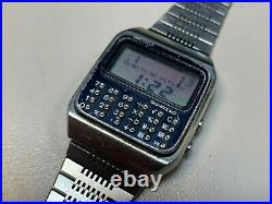 Vintage Digital Seiko C153 5007 Calculator Watch for parts Z-145A Band