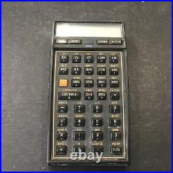 Vintage HP 41CX Scientific Calculator With Carrying Case PARTS OR REPAIR Free Ship