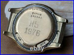Vintage Pulsar USA Time Computer Watch with14K Gold-filled Case FOR PARTS/REPAIR