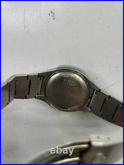 Vintage pulsar p4 stainless steel for parts or repair time computer inc usa