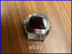 Vintage pulsar time computer red led case only P3 digital rare part mens watch