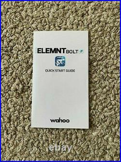 Wahoo Element Bolt gps bike computer all parts & box included amazing condition